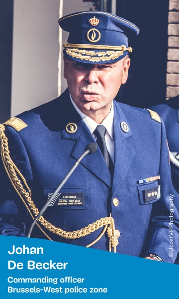 Portrait of Johan De Becker - Commanding officer of Brussels-West police zone