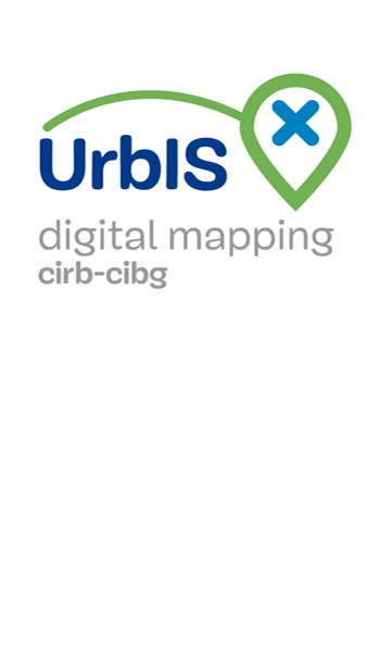 Logo of UrbIS, the Brussels-Capital Region's smart city digital map