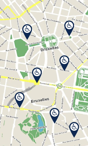 map of brussels mobility for all
