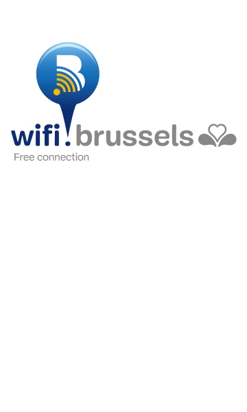 wifi.brussels - logo of the free public wifi network of the Brussels-Capital Region - previously Urbizone