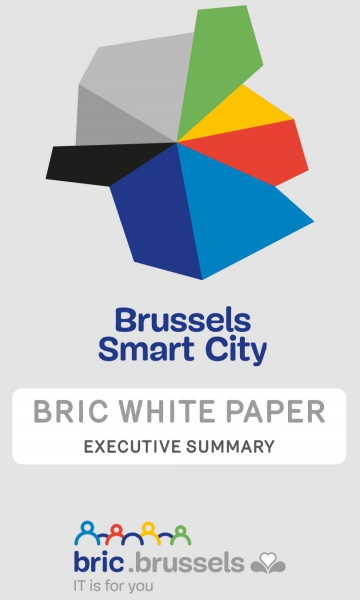 Cover of the Brussels Smart City BRIC White Book Executive summary