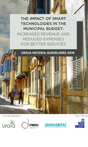 Cover of the URAIA report The impact of smart technologies on the municipal budget