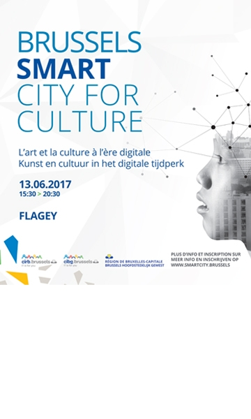 Poster of the Brussels Smart City for Culture event