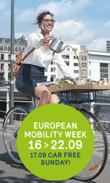 Poster of mobility week and car free sunday 2017