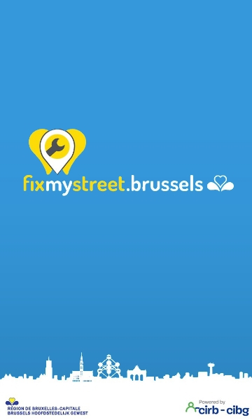 Logo of Fix My Street, a smartcity.brussels app